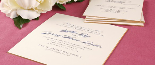 Custom Invitations Fine Stationery On Site Calligraphy Printing